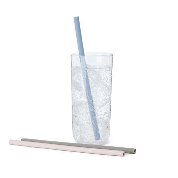 Easy-to-Clean Silicone Straws