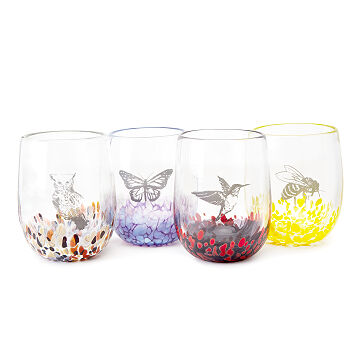 Handmade Animal Spirit Wine Glasses
