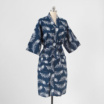 Floating Feathers Batik Robe