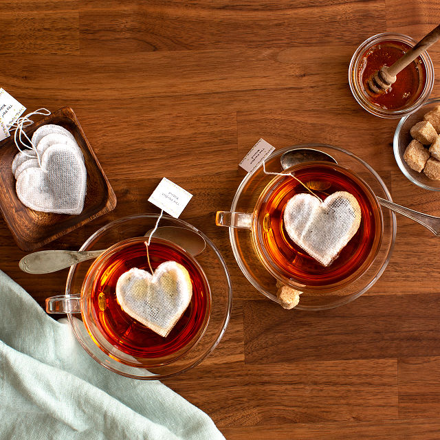 Heart Shaped Tea Bags Love Gifts Valentine S Day Uncommon Goods