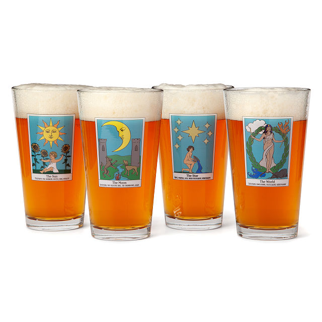 Etched Pint Glass Team Mystic