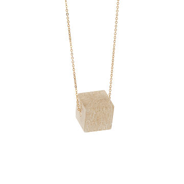 Abstract Loofah Cubist Necklace