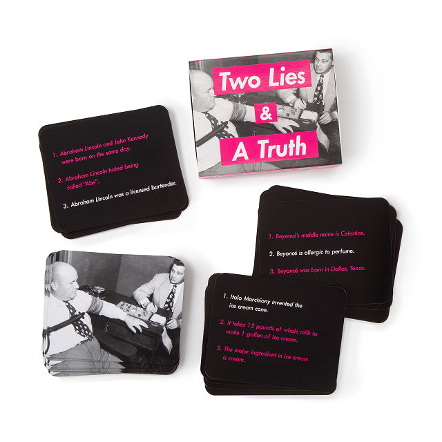 Two Lies and a Truth Card Game