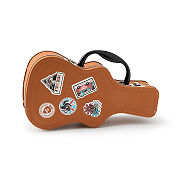 Folk Guitar Lunch Box With Tour Stickers