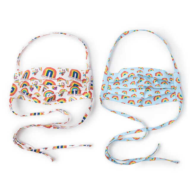 Rainbow Face Coverings - Set of 2