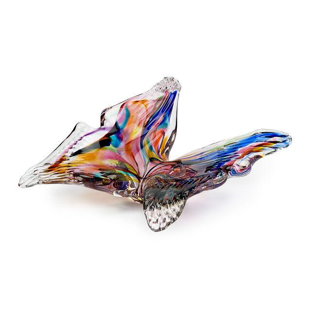 彩虹玻璃蝴蝶雕塑