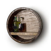 Personalized Wine Barrel Hanging Bar