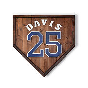Personalized Home Plate Wall Art