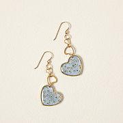 Blooming Heart Dangle Earrings