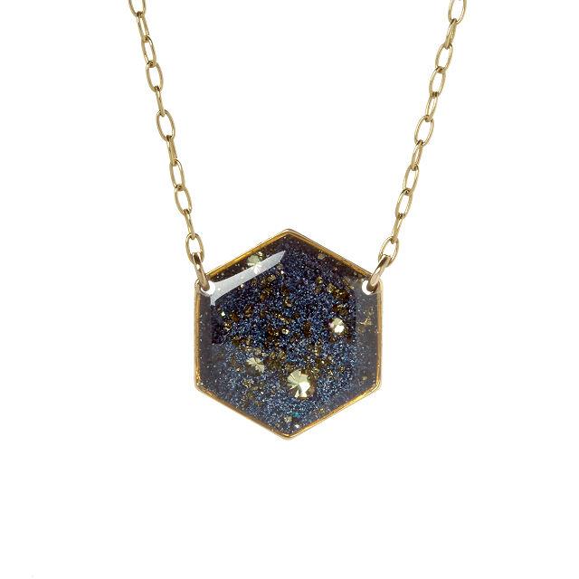 银河六角项链