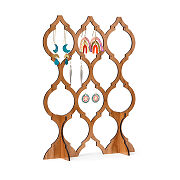 Cherry Wood Arabesque Earring Stand