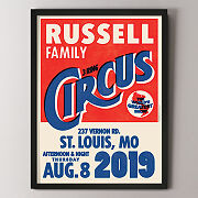 Personalized Family Circus Art