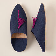 Moroccan Denim Slippers