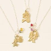 Custom Birthstone Zodiac Necklace