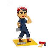 Rosie The Riveter Mini Building Block Kit