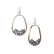Crystal Illusion Hoop Earrings