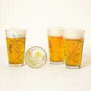 Hockey Arena Map Pint Glasses - Set Of 2
