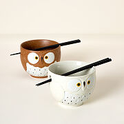 Snow Owl Soup Bowl