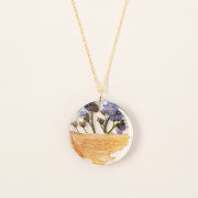 Forget-Me-Not Palo Santo Necklace