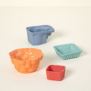 Artful Ceramic Snack Dishes - Set Of 4
