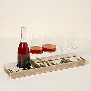 Custom Treeline Wine Serving Tray