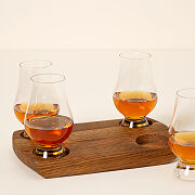 Bourbon Barrel Flight With Glasses