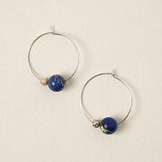 Earth & Moon Hoop Earrings