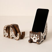 Wooden Animal Phone Stand