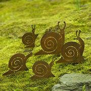 Snail Family Garden Sculpture Set