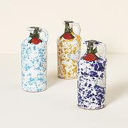 Italian Olive Oil & Hand-Painted Ceramic Vessel