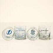 Hockey Arena Map Glasses - Set Of 2