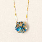 Abstract Earth Necklace