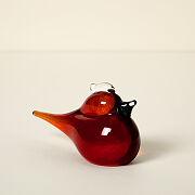 Cardinal Glass Desktop Sculpture