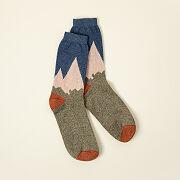 Mountain Range Wool Socks