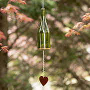 Upcycled Wine Bottle Heart Chime