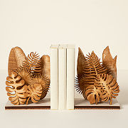 Wooden Houseplant Bookends