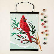 Winter Cardinal Paint-by-Number Wall Art Kit