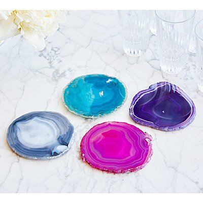 AGATE COASTERS - SET OF 4