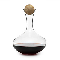 Oval Oak Wine Carafe