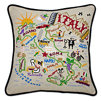 Hand Embroidered Country Pillows