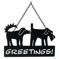 Dog Greetings Sign