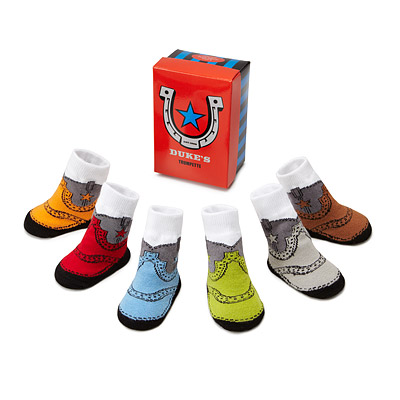 COWBOY INFANT SOCKS - SET OF 6