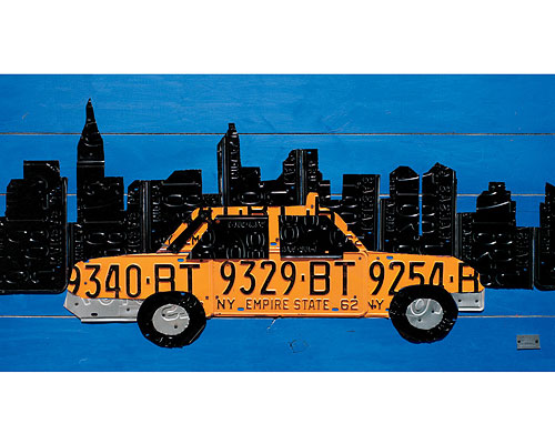 NYC TAXI LICENSE PLATE - AARON FOSTER