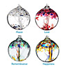 Recycled Glass Tree Globes - Wishes