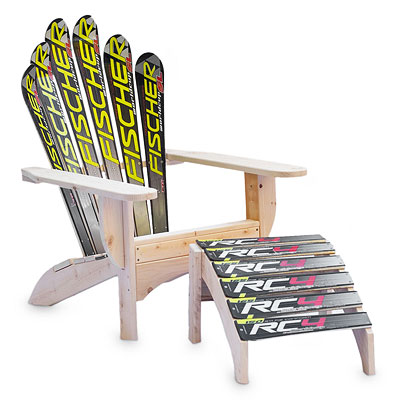 SNOW SKI CHAIR AND OTTOMAN