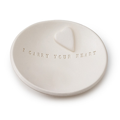 I CARRY YOUR HEART BOWL