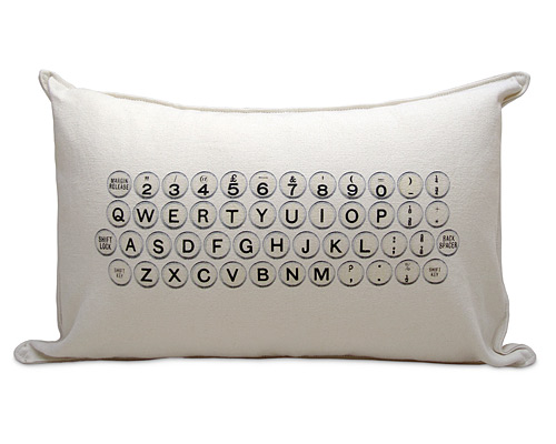 TYPEWRITER PILLOW