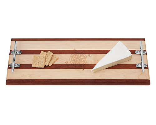 CLEAT SERVING BOARD WITH COMPASS