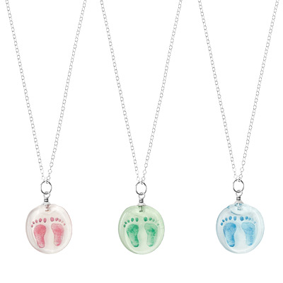 CUSTOM BABY FOOTPRINT STAMP NECKLACE