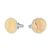 Penny Cufflinks With Personalized Year